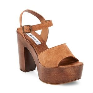 ec4d5ab936b Steve Madden Shoes - Steve Madden Lulla Chestnut Suede Platform Sandal